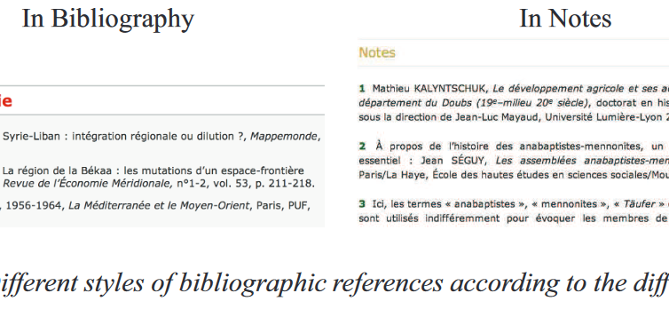 Automatic annotation of incomplete and scattered bibliographical references in Digital Humanities papers