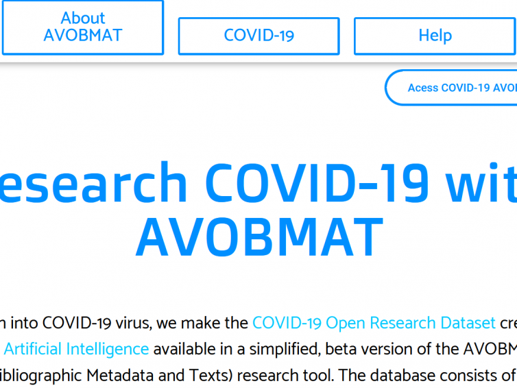 Research COVID-19 with AVOBMAT
