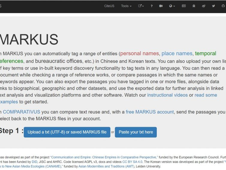 MARKUS – Comprehensive tool with the needs of non-Latin script users in mind