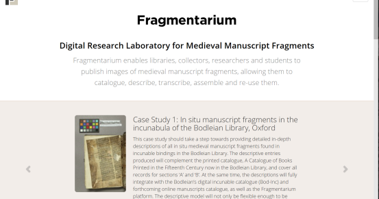 Fragmentarium: a Model for Digital Fragmentology